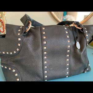 BCBG MaxAzria Black Leather Handbag